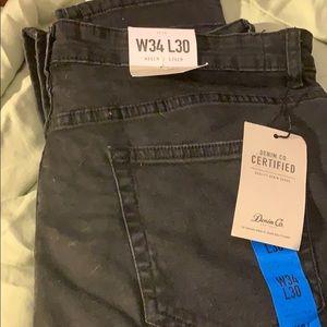 Black men's skinny jeans W34 L30 NWT